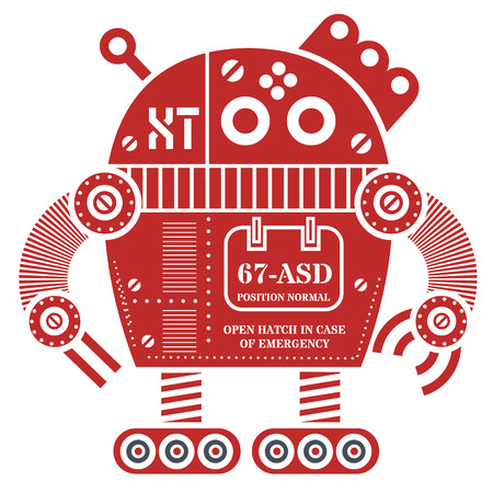 Robot illustration design  イラスト・ベクター素材