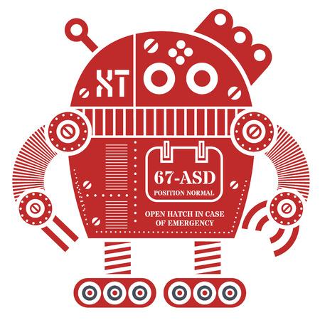 Robot illustration design Ilustrace