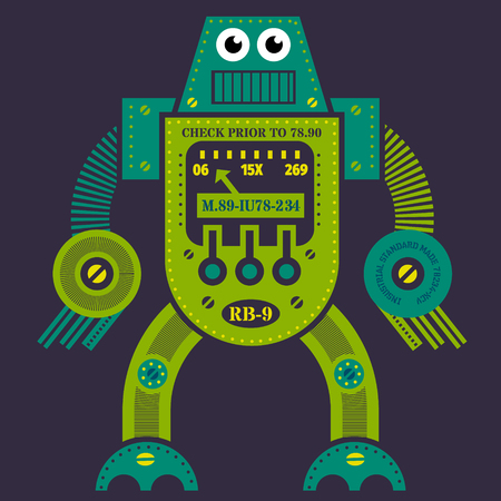 Robot illustration design 向量圖像