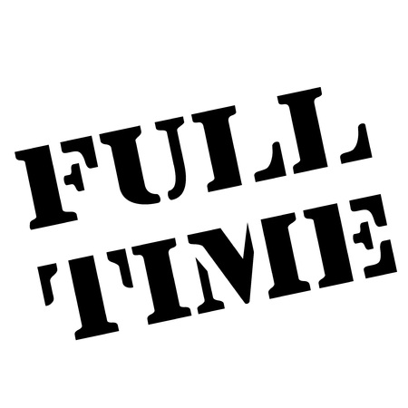 Full-Time stamp. Typographic sign, stamp Stock Illustratie