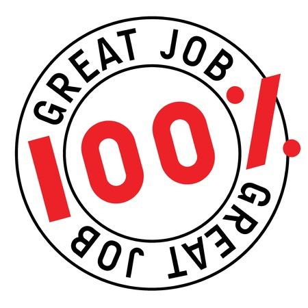 Great Job stamp. Typographic sign, stamp