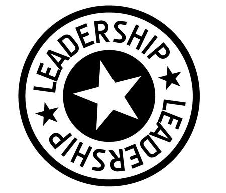 Leadership  typographic stamp. Typographic sign, badge