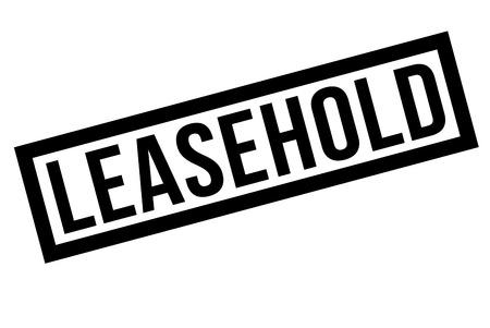 Leasehold  typographic stamp. Typographic sign, badge Illustration