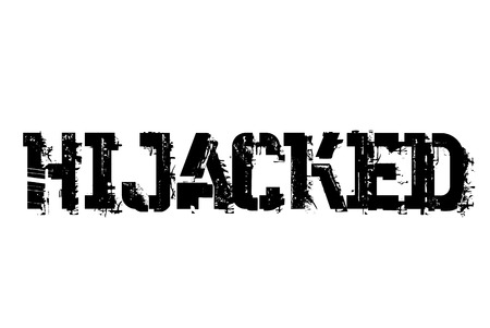 Hijacked typographic stamp. Typographic sign, badge