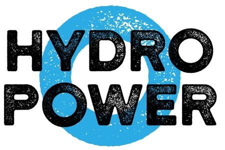 Hydropwer typographic stamp. Typographic sign, badge Stock Illustratie