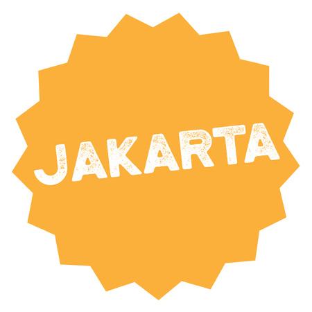 Jakarta  typographic stamp. Typographic sign, badge