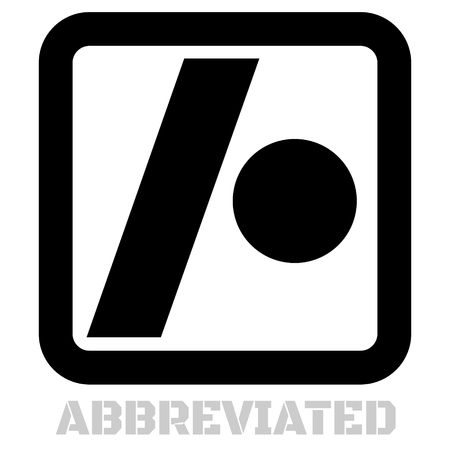 Abbreviated conceptual graphic icon. Design language element, graphic sign. Stock fotó - 95913219