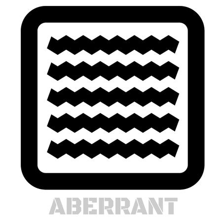 Aberrant conceptual graphic icon. Design language element, graphic sign.