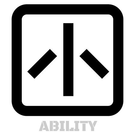 Ability conceptual graphic icon. Design language element, graphic sign.