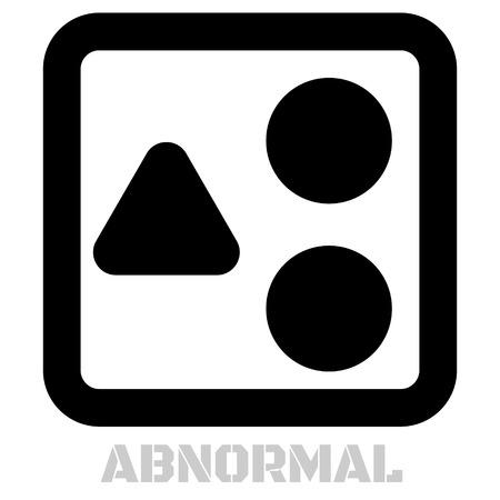 Abnormal conceptual graphic icon. Design language element, graphic sign. Ilustração