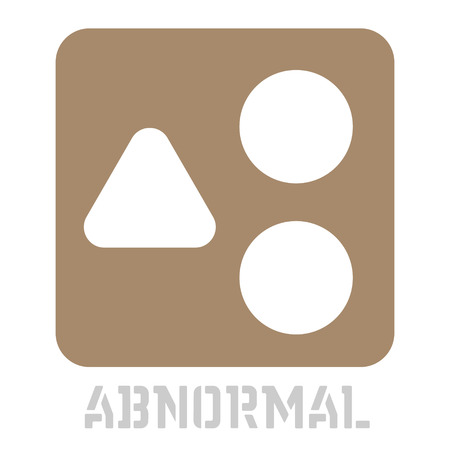 Abnormal conceptual graphic icon. Design language element, graphic sign. Illustration