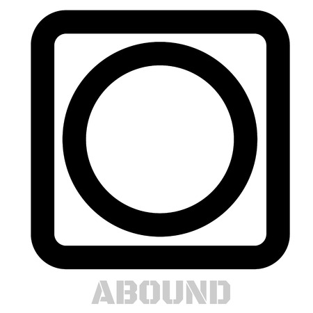 Abound conceptual graphic icon. Design language element, graphic sign. Ilustração