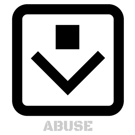Abuse conceptual graphic icon. Design language element, graphic sign.
