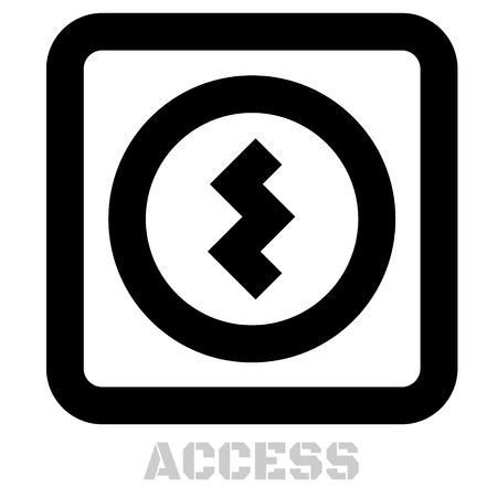 Access conceptual graphic icon. Design language element, graphic sign.