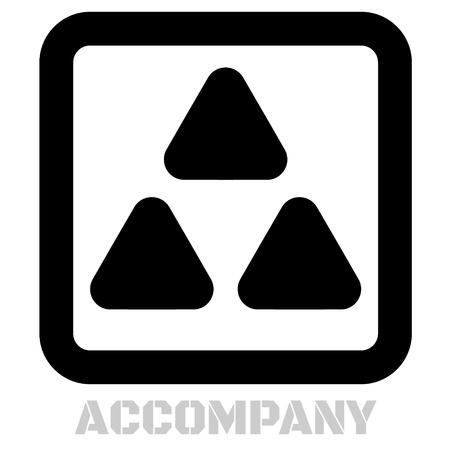 Accompany conceptual graphic icon. Design language element, graphic sign.