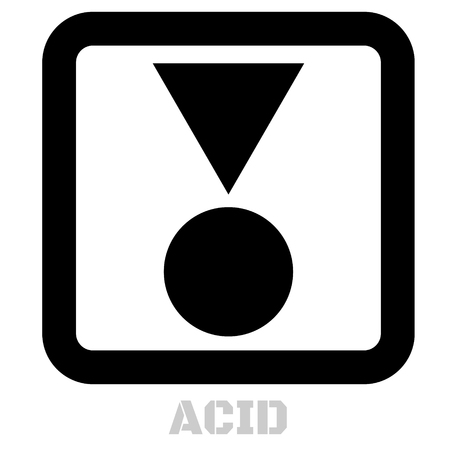 Acid conceptual graphic icon. Design language element, graphic sign.