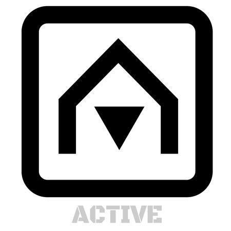 Active conceptual graphic icon. Design language element, graphic sign. Ilustracja
