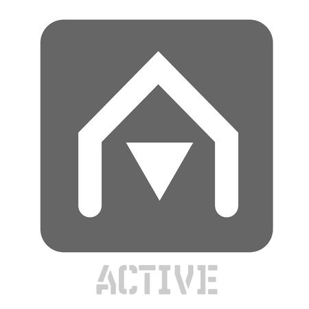 Active conceptual graphic icon. Design language element, graphic sign. 일러스트