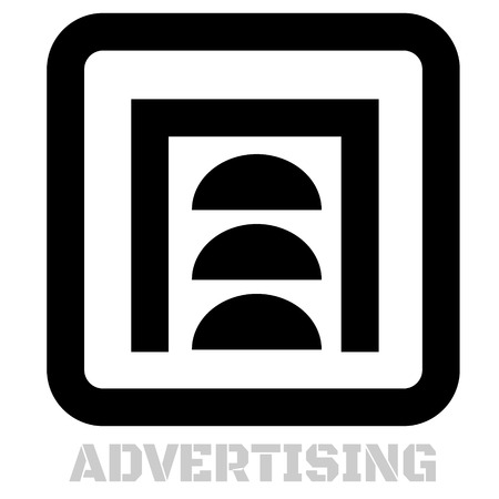 Advertising conceptual graphic icon. Design language element, graphic sign. Illustration