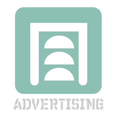 Advertising conceptual graphic icon. Design language element, graphic sign. Illustration