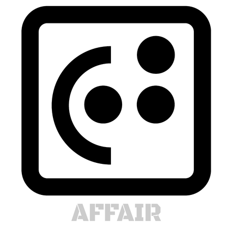 Affair conceptual graphic icon. Design language element, graphic sign.