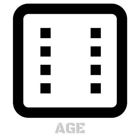 Age conceptual graphic icon. Design language element, graphic sign. Иллюстрация