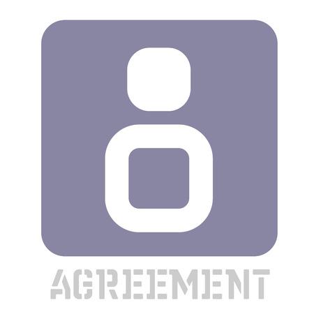 Agreement conceptual graphic icon. Design language element, graphic sign. Çizim