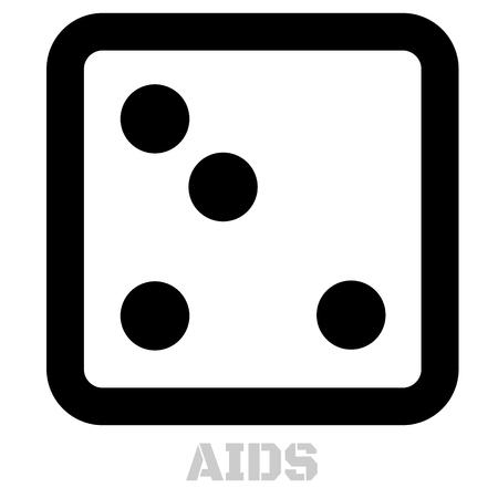Aids conceptual graphic icon. Design language element, graphic sign. Illustration