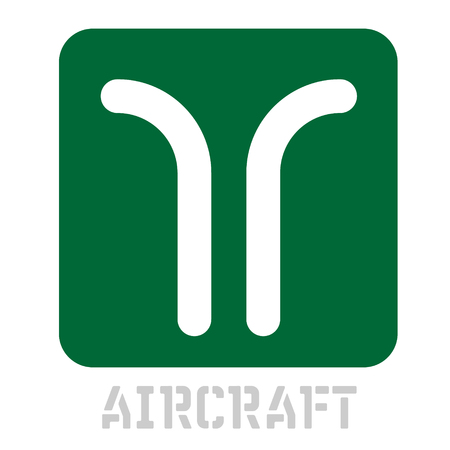 Aircraft conceptual graphic icon. Design language element, graphic sign. Фото со стока - 95914662