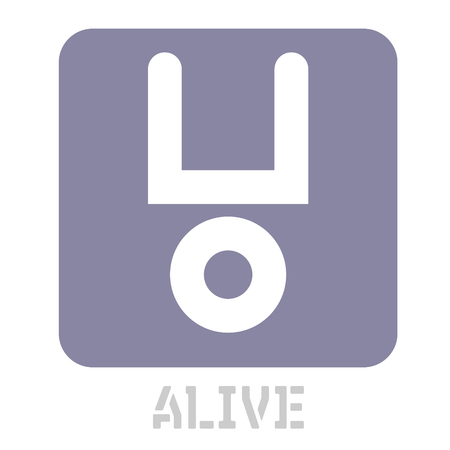 Alive conceptual graphic icon. Design language element, graphic sign.
