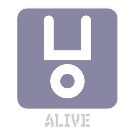 Alive conceptual graphic icon. Design language element, graphic sign.