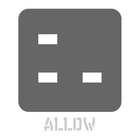 Autoriser l'icône graphique conceptuelle. Élément de langage de conception, signe graphique.