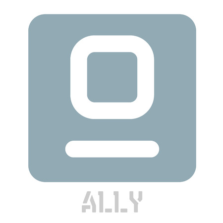 Ally conceptual graphic icon. Design language element, graphic sign. Ilustrace