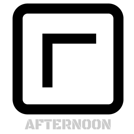 Afternoon conceptual graphic icon. Design language element, graphic sign.