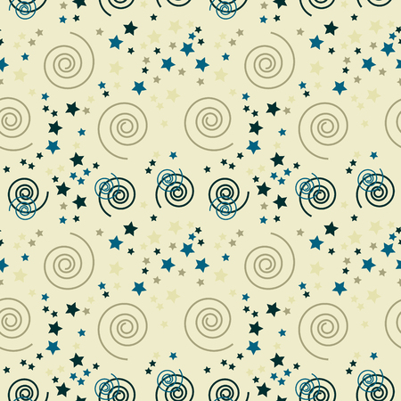Fantastic spirals creative pattern. Digital design for print, fabric, fashion or presentation.