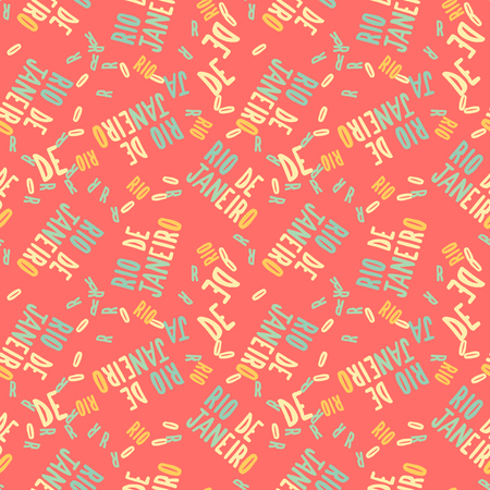 Rio de Janeiro  creative pattern. Digital design for print, fabric, fashion or presentation.