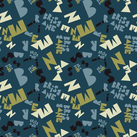 Brisbane  creative pattern. Digital design for print, fabric, fashion or presentation. 일러스트