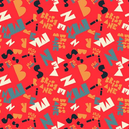 Brisbane  creative pattern. Digital design for print, fabric, fashion or presentation. Illustration
