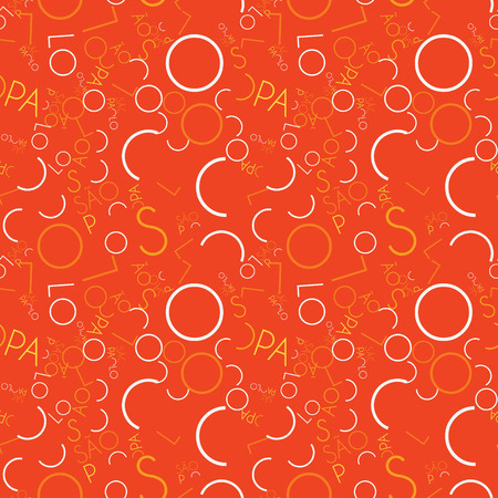 S and O Paulo arranged in creative pattern. Digital design for print, fabric, fashion or presentation. Ilustração