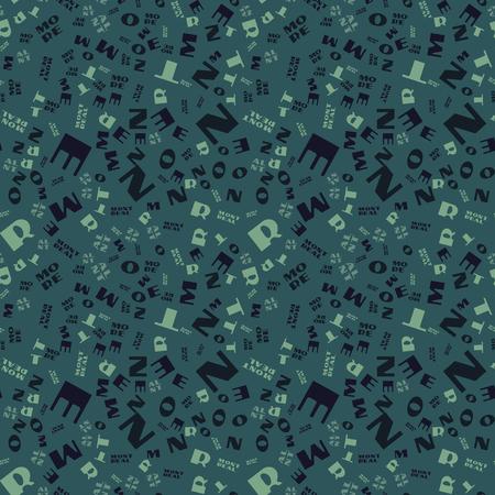 Montreal creative pattern. Digital design for print, fabric, fashion or presentation.