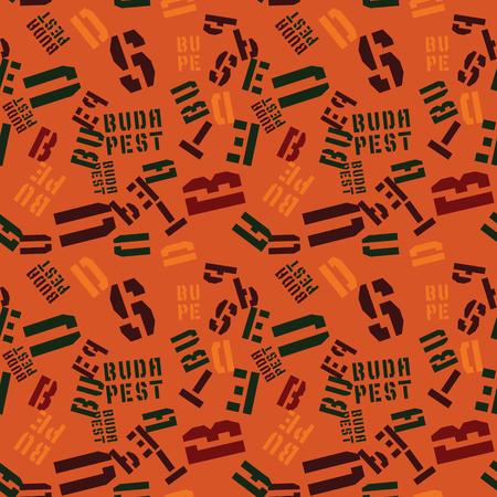 Budapest creative pattern. Digital design for print, fabric, fashion or presentation. Illustration