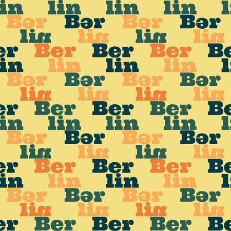 Berlin  creative pattern. Digital design for print, fabric, fashion or presentation. Illustration