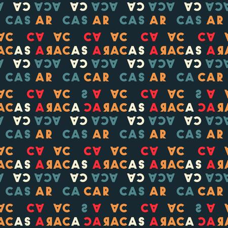 Caracas  creative pattern. Digital design for print, fabric, fashion or presentation. Ilustração