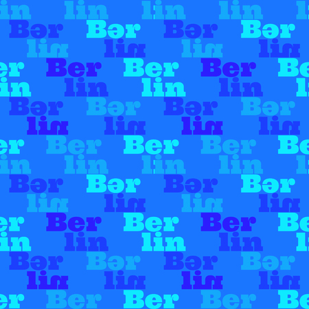 Berlin  creative pattern. Digital design for print, fabric, fashion or presentation. Ilustração