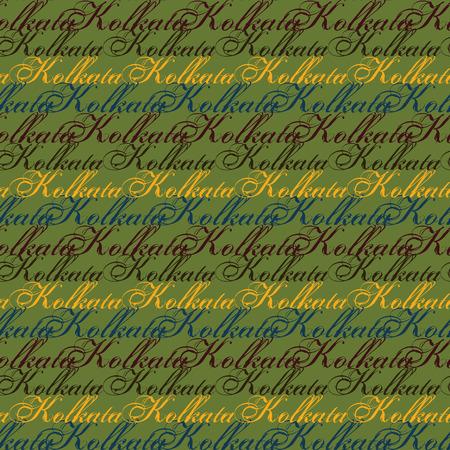 Kolkata creative pattern. Digital design for print, fabric, fashion or presentation.