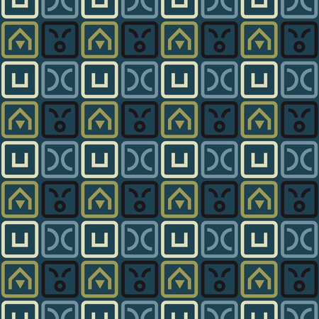 Fantastic maze seamless pattern. Autentic design for textile, print or digital.