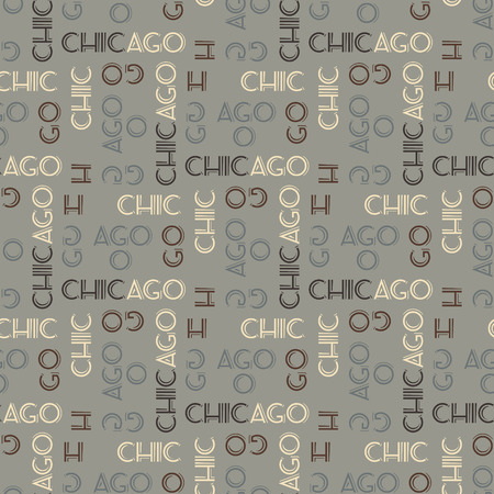 Chicago seamless pattern. Creative design for various backgrounds. Stock Vector - 96315483