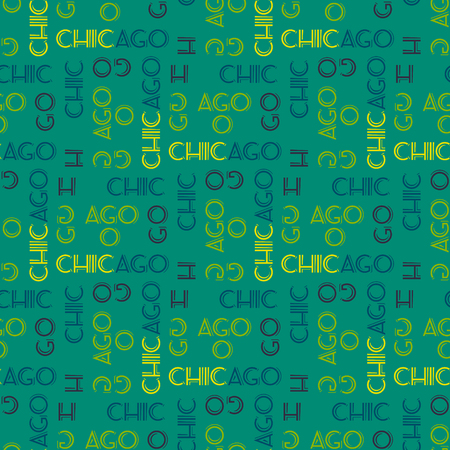 Chicago seamless pattern. Creative design for various backgrounds. Stock Vector - 96286272