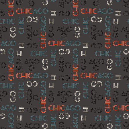 Chicago seamless pattern. Creative design for various backgrounds. Stock Vector - 96315485