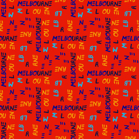 Word Melbourne pattern